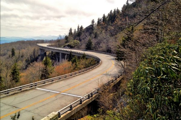 Linn Cove Viaduct-Blue Ridge Parkway-Milepost 304-Tanawha Trail