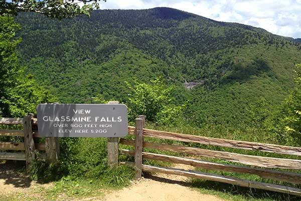 Glassmine Falls-Blue Ridge Parkway-Milepost 361.2