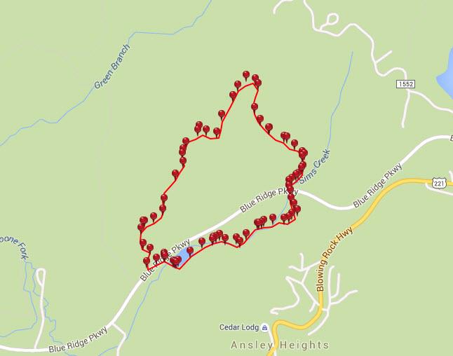 green knob trail map